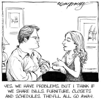 Image result for cohabitation cartoon