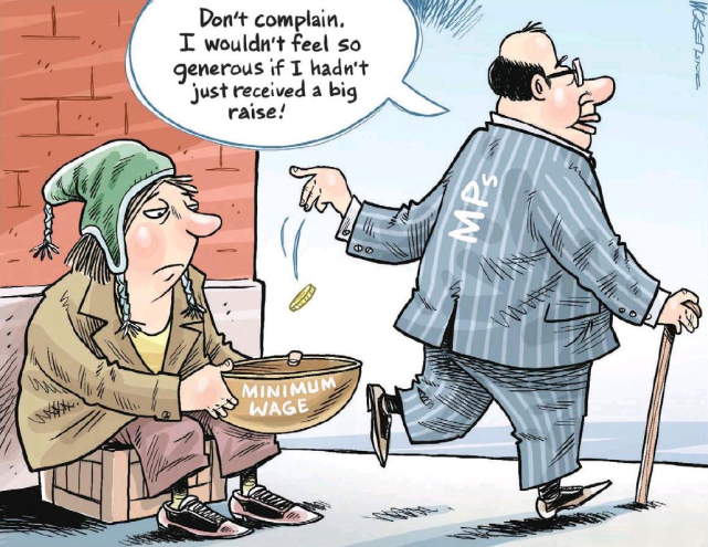 Image result for MPs'pay hike cartoons