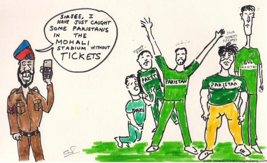 Image result for cricket cartoon india versus pakistan