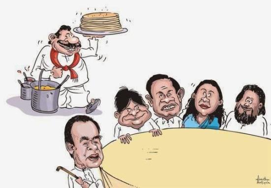 Image result for Stolen wealth cartoons sri lanka
